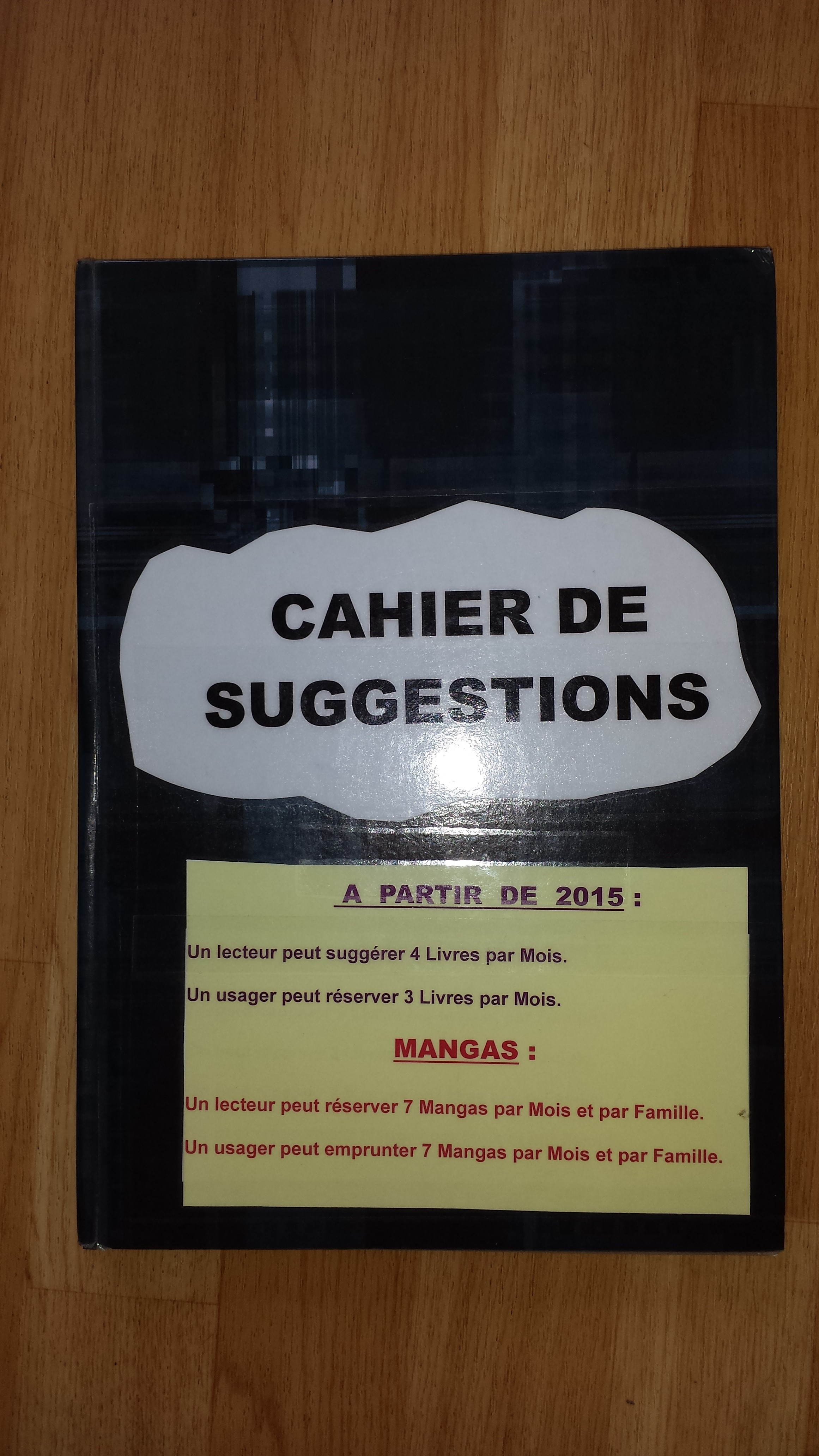 Cahier de suggestion