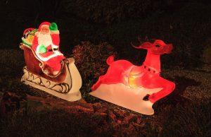Père Noel et rennes